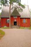 Traditionnal Finnish wooden house Royalty Free Stock Photography