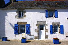 Traditionnal house. A traditionnal house of fisherman on the island Of SEIN in Brittany (France Royalty Free Stock Images