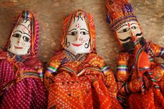 Traditionnal Indian puppets Stock Images
