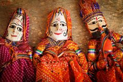 Traditionnal Indian puppets Royalty Free Stock Photography