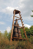 Traditionnal mountain of barrels Stock Images