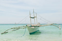 Traditionnal Outrigged Boat Royalty Free Stock Photo