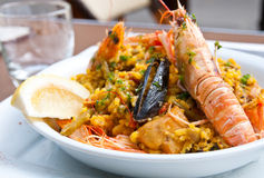 Traditionnal spanish food paella Stock Photo