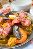 Traditionnal spanish food paella Stock Photos
