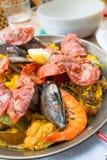 Traditionnal spanish food paella Stock Photos