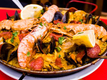 Traditionnal spanish food paella Royalty Free Stock Image