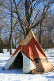 Traditionnal tee pee. Stock Photos