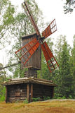 Traditionnal windmill in Seurasaari park Stock Photography