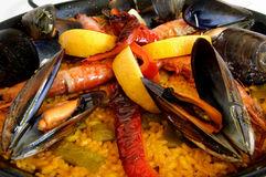 traditionnel espagnol de riz de Paella Image libre de droits