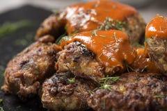` Traditionnel roumain de ` de chiftele de ` de nourriture ou de parjoale de ` image libre de droits