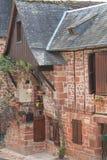 Traditionnelles Maisons, Collonges-Ла-румян (Франция) стоковое фото rf