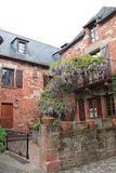 Traditionnelles Maisons, Collonges-Ла-румян (Франция) стоковое изображение