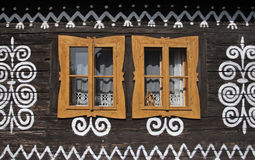 Traditional architecture , Cicmany , Slovakia Stock Photos