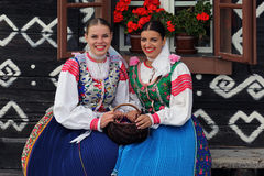 Traditions , Cicmany , Slovakia Stock Photography