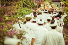 Traditions of culture on the island of Bali Stock Photos