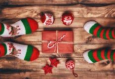 Traditions de famille de Noël photo libre de droits