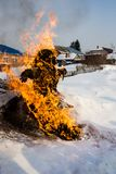 The traditions of pagan Slavic rituals of maslenitsa stock images