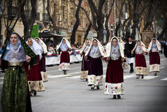 Traditions in Sardinia Stock Image