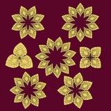 TraditionThai-Art-Blumensammlung vektor abbildung