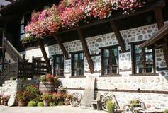 Traditonal bulgarian facade. Traditional bulgarian old house facade Stock Image