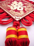 Traditonal chinese wedding suspending  tassel Stock Photos