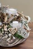 Traditonal christmas wreath. Traditonal slovak christmas wreath. gingerbreads and ski Stock Image