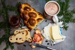 Traditional Czech Christmas sweet bread Stock Image