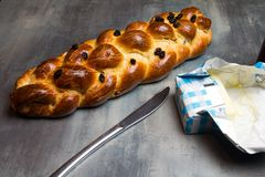 Traditional Czech Christmas sweet bread Stock Photography