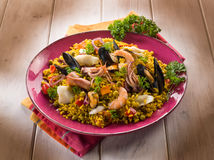 Traditonal fish paella Royalty Free Stock Images