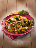 Traditonal fish paella Royalty Free Stock Photography