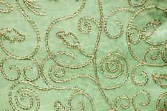 Traditonal Indian embroidered fabric Stock Photos