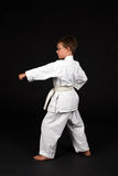 Traditonal karate left stance Stock Image