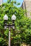 Traditonal latarnia w parku Zdjęcia Royalty Free