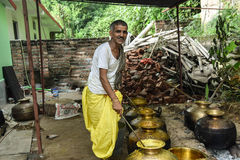 Traditonal Prepration Of Food In Himachal Dham Stock Photos