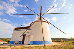 Traditonal windmill in Portugal Stock Photo