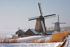 Traditonal windmills in the Netherlands Stock Photo