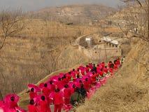 Tradizionale balli-Yangge durante il CNY Fotografie Stock