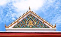 Tradizionale di stile tailandese sulla parte superiore Fotografia Stock