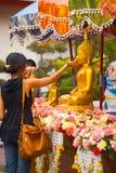 Tradizione pulita di Songkran Buddha Fotografia Stock