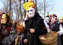 TRADIZIONE IN ROMANIA - `` FESTIVAL DEI CUCULI `` Immagini Stock