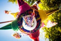 Tradizione variopinta messicana di piñata di pinata Fotografie Stock Libere da Diritti