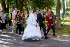 Tradizioni russe di nozze Fotografia Stock Libera da Diritti