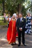 Tradizioni russe di nozze Fotografia Stock