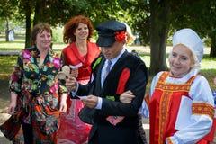 Tradizioni russe di nozze Fotografie Stock