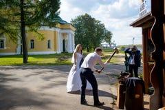 Tradizioni russe di nozze Immagini Stock