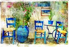 Ελληνικές λεπτομέρειες Tradotional Στοκ Εικόνα