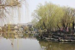 The tradtional bulding reflection on Lake(Jiaxing,China) Royalty Free Stock Photos