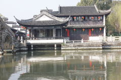 The tradtional bulding reflection on Lake(Jiaxing,China) Royalty Free Stock Photo