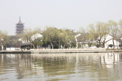 The tradtional bulding reflection on Lake(Jiaxing,China) Stock Images