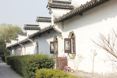 The tradtional bulding for the white wall(Jiaxing,China) Stock Photos